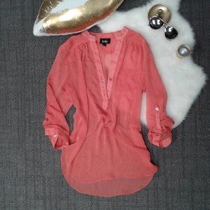 Peach Blouse By & By XL